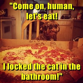 Don't Worry, We'll Save The Crusts For Him!