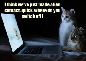 I think we've just made alien contact..quick, where do you switch off !