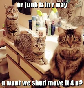 ur junk iz in r way  u want we shud move it 4 u?