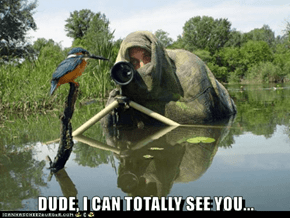 DUDE, I CAN TOTALLY SEE YOU...