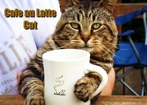 Kliban Cat with Latte