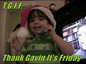 T.G.I.F.  Thank Gavin It's Friday