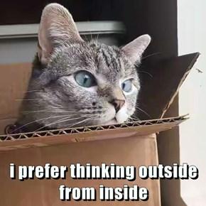 i prefer thinking outside from inside