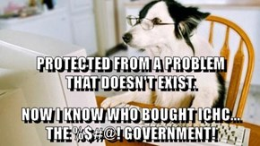 PROTECTED FROM A PROBLEM                 THAT DOESN'T EXIST. NOW I KNOW WHO BOUGHT ICHC...              THE %$#@! GOVERNMENT!