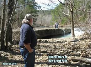 Hubcat Mark at Haw Creek Falls