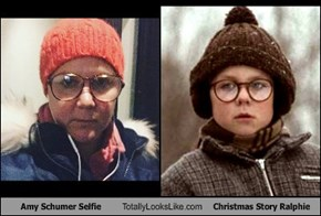 Amy Schumer Selfie Totally Looks Like Christmas Story Ralphie