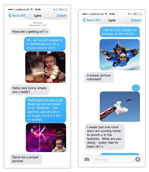 A Dad Trolled His Partner With Increasingly Outrageous Baby Pictures