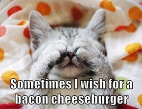 Sometimes I wish for a bacon cheeseburger