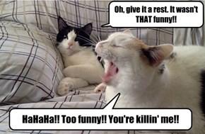 Laughing at a good joke!