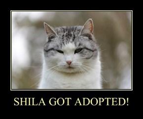 SHILA GOT ADOPTED!