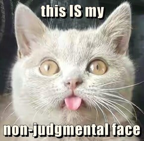 this IS my  non-judgmental face