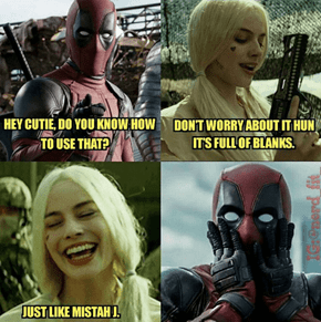 Nothing Quite Gets Deadpool in the Mood Like Some Harley Quinn Savagery