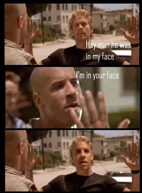 TBT to When Vin Diesel Got Up in Paul Walker's Face