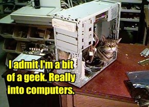 I admit I'm a bit of a geek. Really into computers.