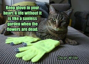 Keep glove in your heart. A life without it is like a sunless garden when the flowers are dead.