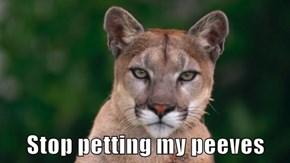 Stop petting my peeves