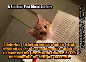 A Random Fact About Authors