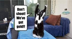 Don't shoot! We've got gold!!