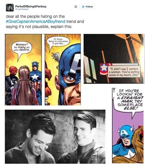 Marvel Fans Really Want Captain America to Have a Boyfriend
