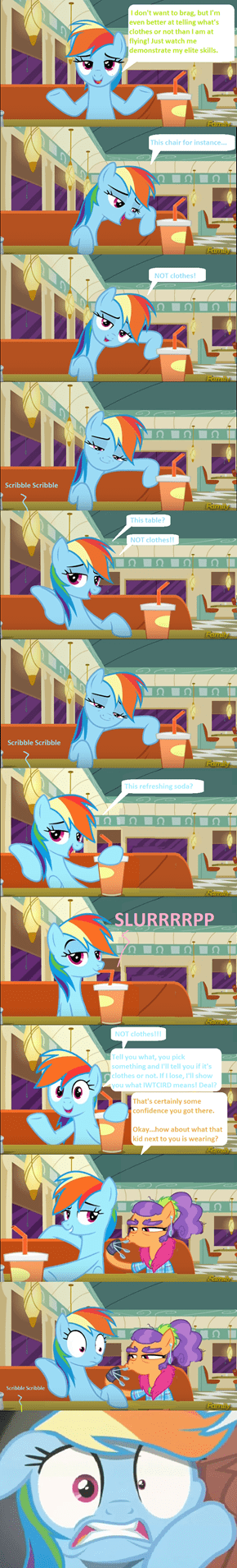 Rainbow Dash gets spooned