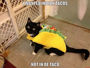 I WANTED INDIAN TACOS  NOT IN DE TACO