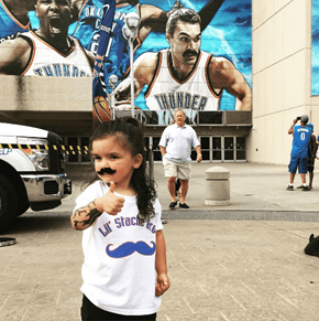 Mini Steven Adams Might Be the Most Adorable Fan in the Stands