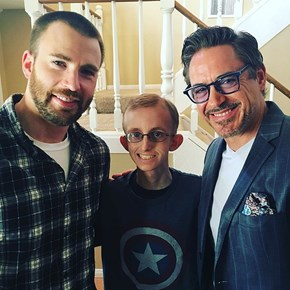 Iron Man and Captain America Took a Timeout from Fighting One Another to Visit an 18-Year-Old Battling Cancer Who Should Be the next Avenger