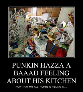 PUNKIN HAZZA A BAAAD FEELING ABOUT HIS KITCHEN