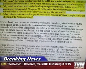 Breaking News - The Deeper U Research, the MORE Disturbing it GETS