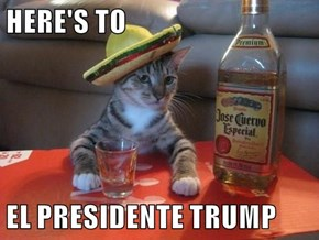 HERE'S TO  EL PRESIDENTE TRUMP