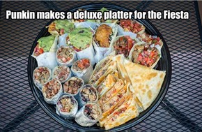 Punkin makes a deluxe platter for the Fiesta