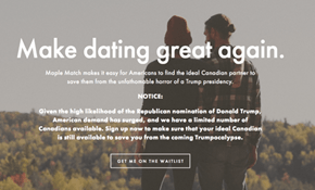 Maple Match Is the Dating App Designed to Help Americans Find a Canadian Match in Case of a Trump Presidency