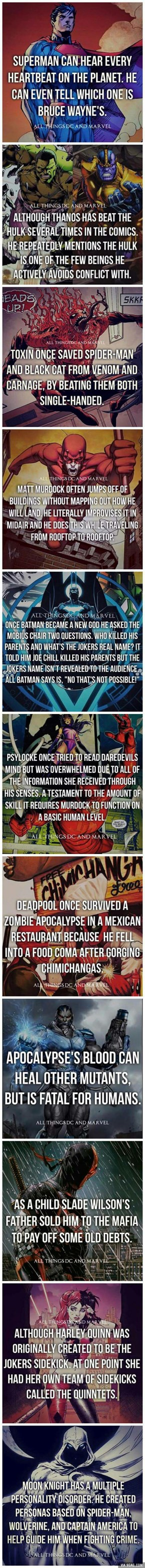 Interesting DC and Marvel facts