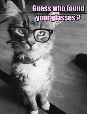 Guess who found your glasses ?