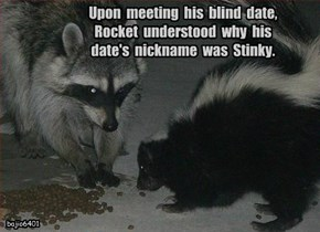 Upon  meeting  his  blind  date,  Rocket  understood  why  his  date's  nickname  was  Stinky.