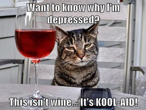 Want to know why I'm depressed?  This isn't wine....It's KOOL-AID!