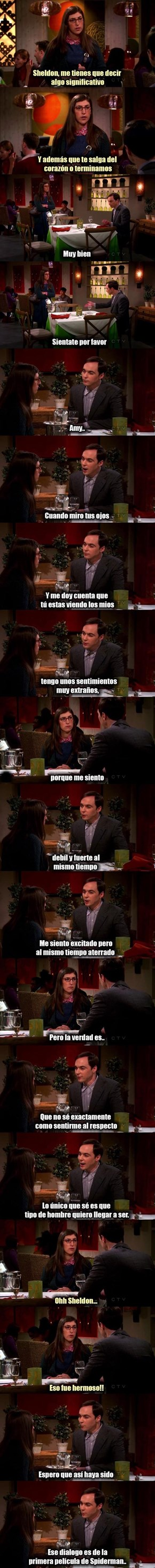 Hay románticos pero luego está Sheldon