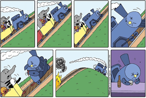 A Hard-Hitting Comic About the Little Engine That Tried His Best