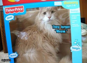 """They  forgot  """"Meow."""""""