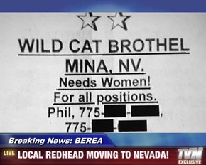 Breaking News: BEREA - LOCAL REDHEAD MOVING TO NEVADA!