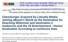 ICHC mystery buyer revealed: Millenials! (sorta) http://www.tmcnet.com/usubmit/2016/04/21/8350748.htm