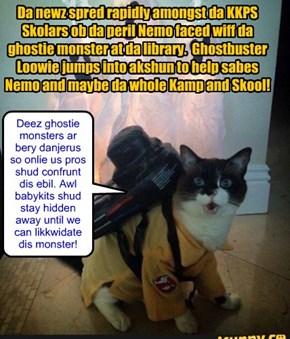 KKPS Skolars and Ghostbusters come to Nemo's reskyoo!