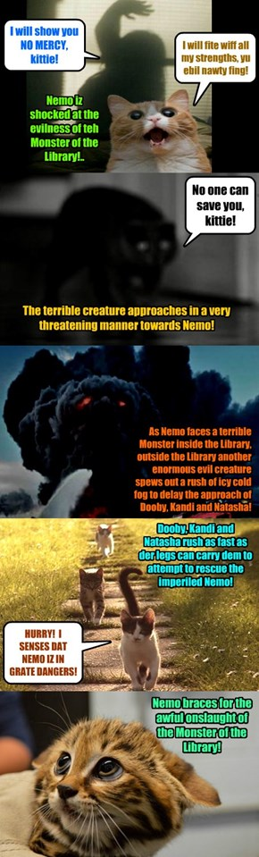 The Monster of the Library approaches ever closer! Will Nemo survive the fight?!
