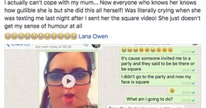 Mom Goes Into Freakout Mode, Thinks Daughter's Head Turned Into a Square