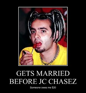 GETS MARRIED BEFORE JC CHASEZ