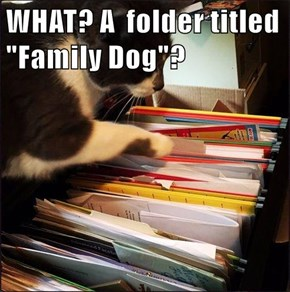 "WHAT? A  folder titled ""Family Dog""?"