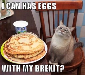 I CAN HAS EGGS  WITH MY BREXIT?