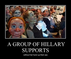A GROUP OF HILLARY SUPPORTS