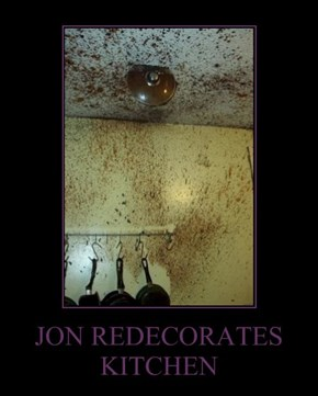 JON REDECORATES KITCHEN