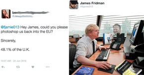 Photoshop Master James Fridman ‏Continues to Deliver Outstanding Edits to Twitter Requests
